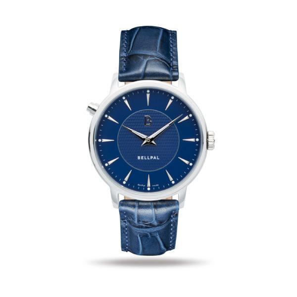 BellPal Watch Stålboett och blå urtavla