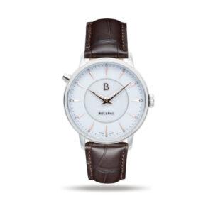 BellPal Watch Stålboett och vit urtavla